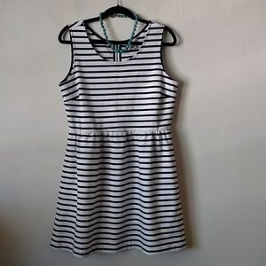 Kenar Fit & Flare Dress Blue White Stripe size 12